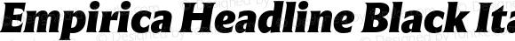 Empirica Headline Black Italic