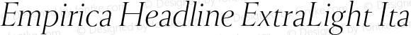 Empirica Headline ExtraLight Italic