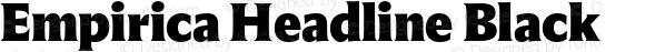 Empirica Headline Black