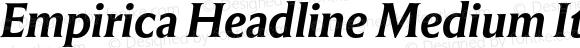 Empirica Headline Medium Italic