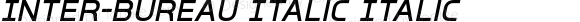 Inter-Bureau Italic