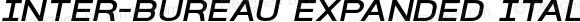 Inter-Bureau Expanded Italic