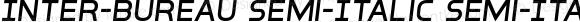 Inter-Bureau Semi-Italic