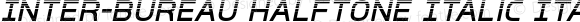 Inter-Bureau Halftone Italic