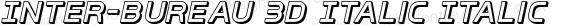 Inter-Bureau 3D Italic