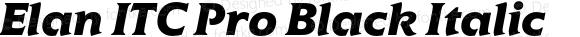 Elan ITC Pro Black Italic Version 1.00