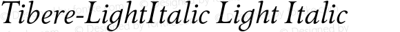 Tibere-LightItalic Light Italic Version 7.504