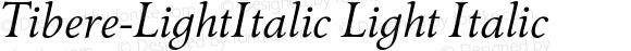 Tibere-LightItalic Light Italic Version 7.504