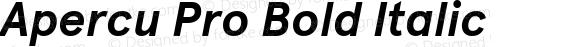 Apercu Pro Bold Italic Version 5.002