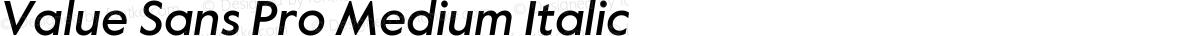 Value Sans Pro Medium Italic