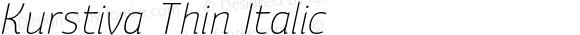 Kurstiva Thin Italic