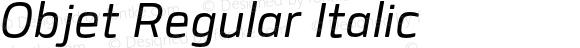 Objet Regular Italic