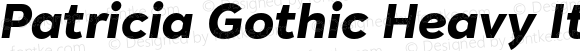 Patricia Gothic Heavy Italic