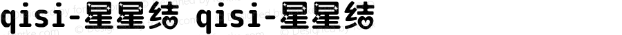 qisi-星星结 qisi-星星结 Version 1.00 August 14, 2014, initial release