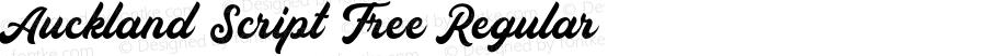 Auckland Script Free Regular 1.000