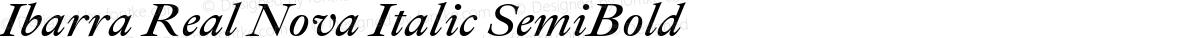 Ibarra Real Nova Italic SemiBold