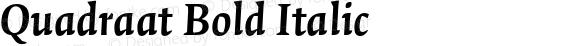 Quadraat Bold Italic