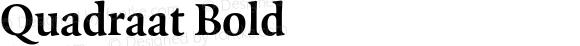 Quadraat Bold