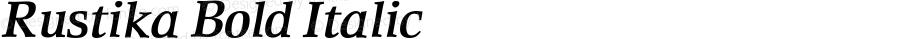 Rustika Bold Italic 005.000