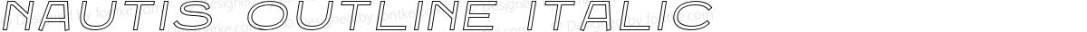 Nautis Outline Italic