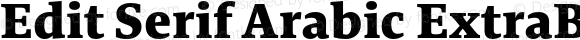 Edit Serif Arabic ExtraBold