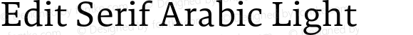 Edit Serif Arabic Light