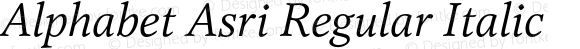 Alphabet Asri Regular Italic