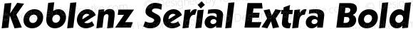 Koblenz Serial Extra Bold Italic