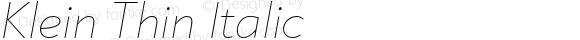 Klein Thin Italic