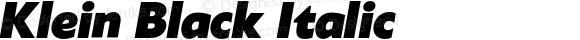 Klein Black Italic