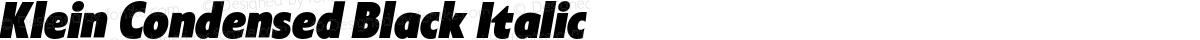 Klein Condensed Black Italic