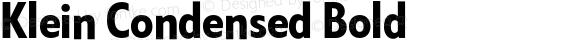 Klein Condensed Bold