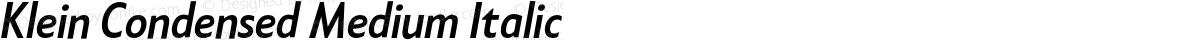 Klein Condensed Medium Italic