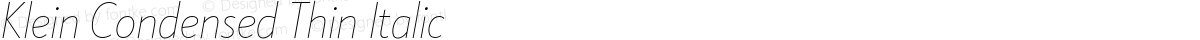 Klein Condensed Thin Italic