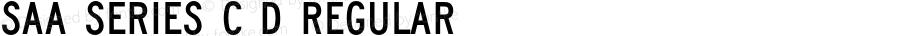 Saa Series C D Regular Version 1.000;PS 1.10;hotconv 1.0.57;makeotf.lib2.0.21895 DEVELOPMENT