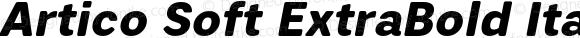 Artico Soft ExtraBold Italic Version 1.000