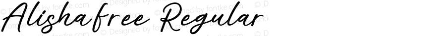 AlishaFree Regular Version 1.002;Fontself Maker 3.1.2