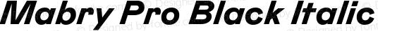 Mabry Pro Black Italic