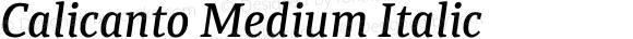 Calicanto Medium Italic
