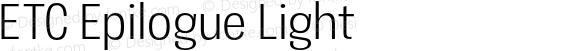 ETC Epilogue Light