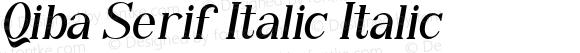 Qiba Serif Italic Italic