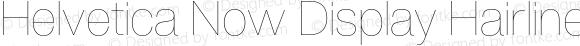 Helvetica Now Display Hairline