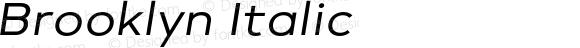 Brooklyn Italic
