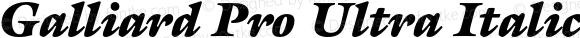 Galliard Pro Ultra Italic