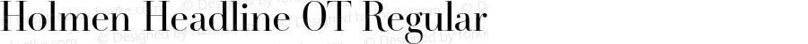 Holmen Headline OT Regular Version 7.502