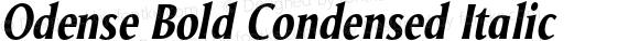 Odense Bold Condensed Italic