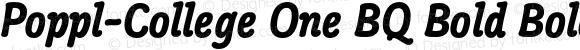 Poppl-College One BQ Bold