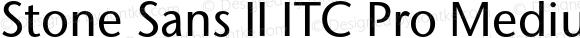 Stone Sans II ITC Pro