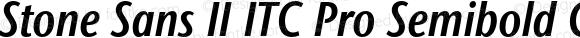 Stone Sans II ITC Pro Semibold Condensed Italic
