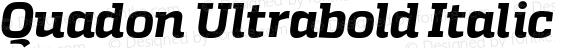 Quadon Ultrabold Italic